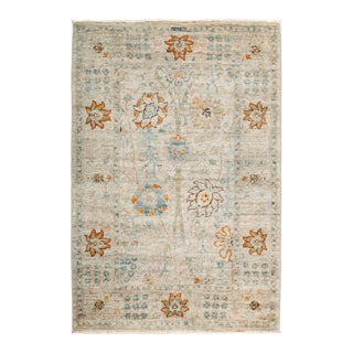 """Suzani Hand Knotted Area Rug - 4' 1"""" X 6' 0"""""""