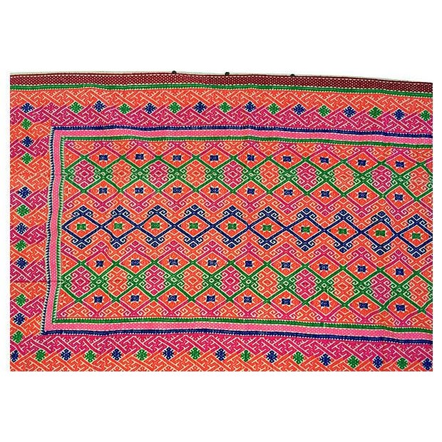 Hmong Tribal Marriage Quilt - Image 3 of 4