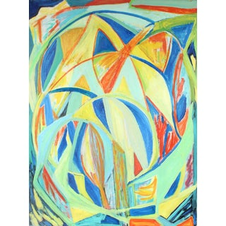 Georgette Owens Large Abstract Oil Painting