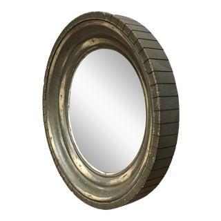 Restoration Hardware Aged Round Convex Mirror