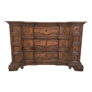 Antique French Serpentine Oak Chest