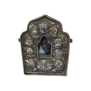 Vintage Traveling Silver Buddhist Shrine