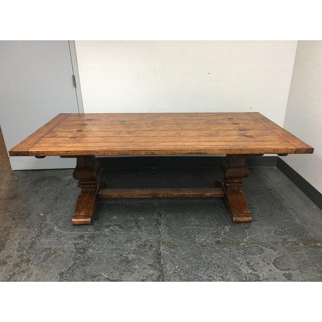 Guy Chaddock Little Hampton Pedestal Trestle Table - Image 2 of 11