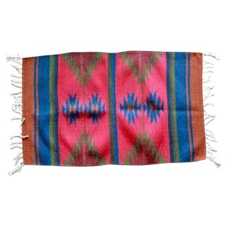 Mexican Pedal-Loom Red Rug - 2' x 3'3""