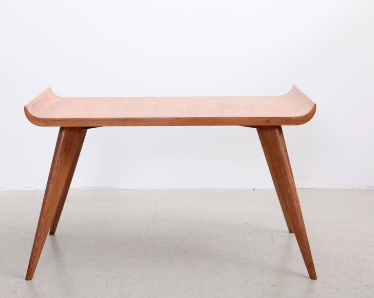 Spanish Modernist Pagoda Coffee Or Side Table In Oak By Manuel Barbero 1953    Image 3