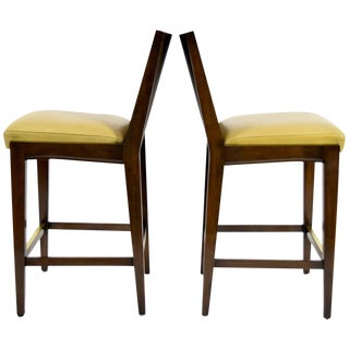 "Pair of ""Kenya"" Counterheight Barstools by Axis."