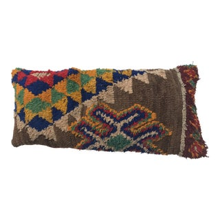 Vintage Moroccan Wool Stuffed Pillow