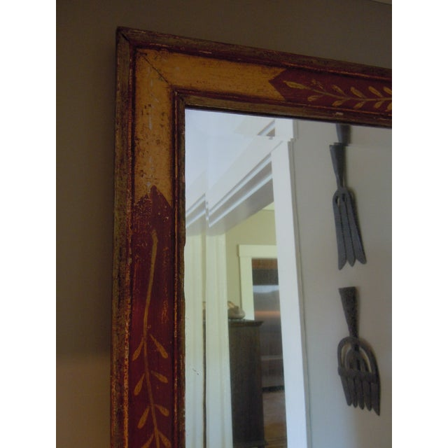 Antique 19th C. Hand Painted Mirror Folk Art Style - Image 4 of 4