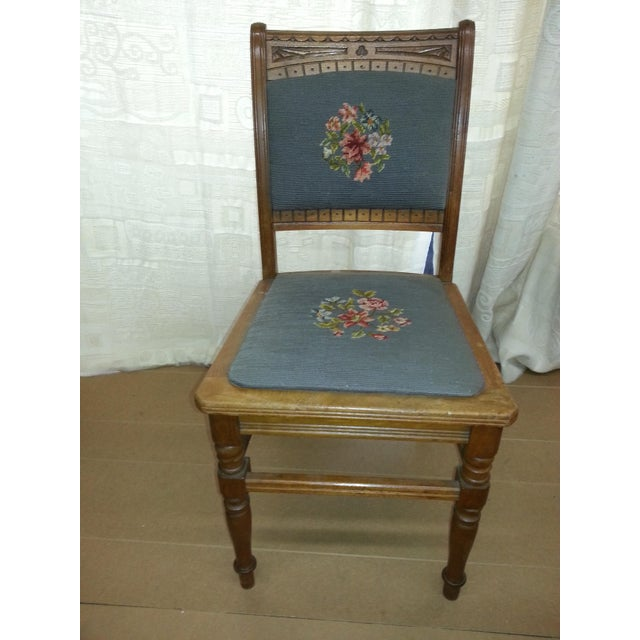 Needlepoint Prairie Dining Chairs - Set of 3 - Image 5 of 8