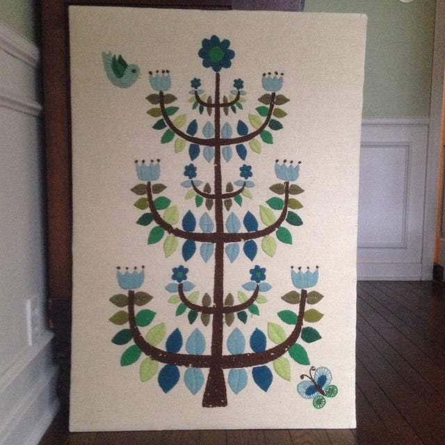 Vintage Tree of Life Textile Wall Art - Image 11 of 11