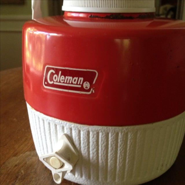 Vintage Red Metal & Plastic Coleman Cooler - Image 4 of 11