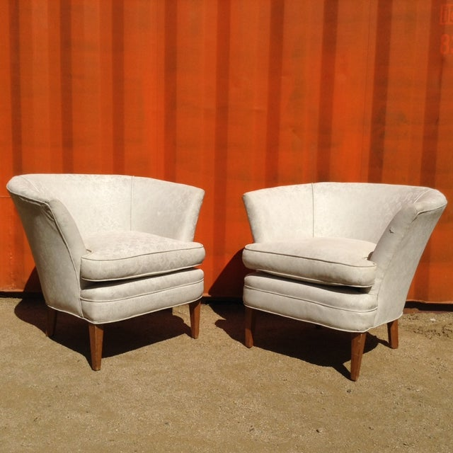 1960's Burbank Home Bespoke Arm Chairs - Pair - Image 2 of 3