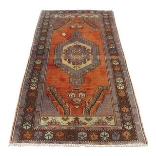 Vintage Handmade Anatolian Carpet - 3′4″ × 6′4″