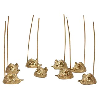 Napier 24k Gold Plated Mice Servers - Set of 8