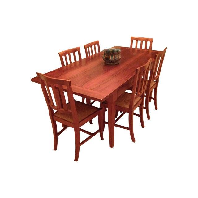 Image of Italian Custom Chestnut Dining Set