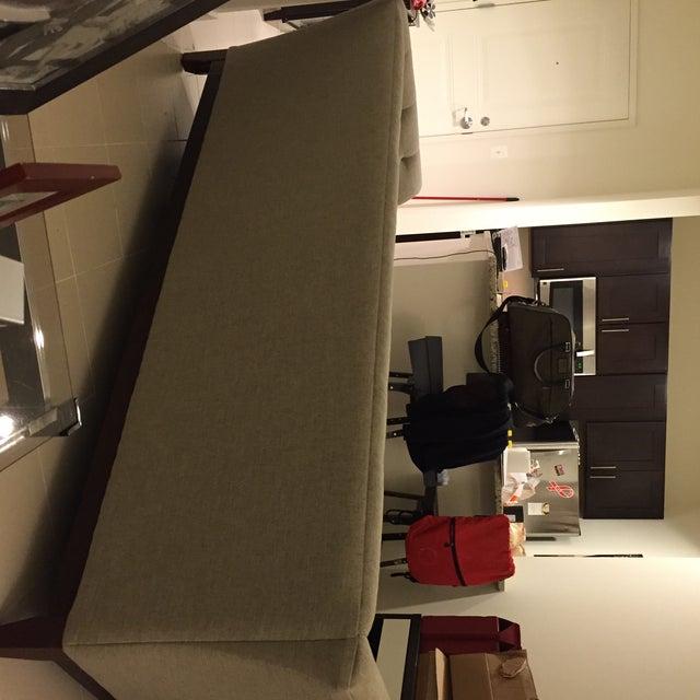 Sage Colored Tufted Sofa   Chairish
