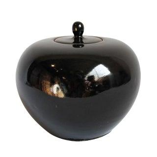Black Ceramic Lidded Pot