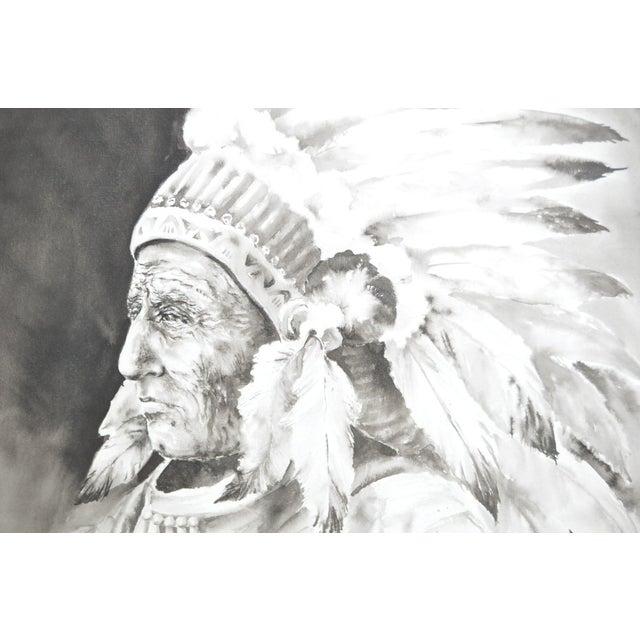 Image of Doris Reese Native American Indian Watercolor