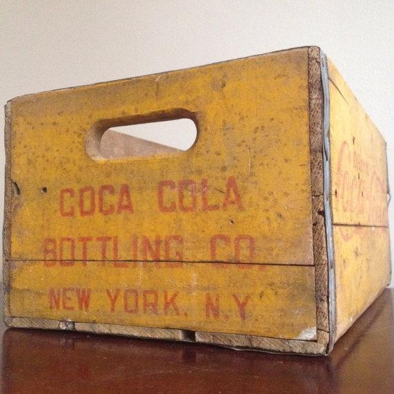 Vintage Yellow Wooden Coca Cola Crate - Image 4 of 6