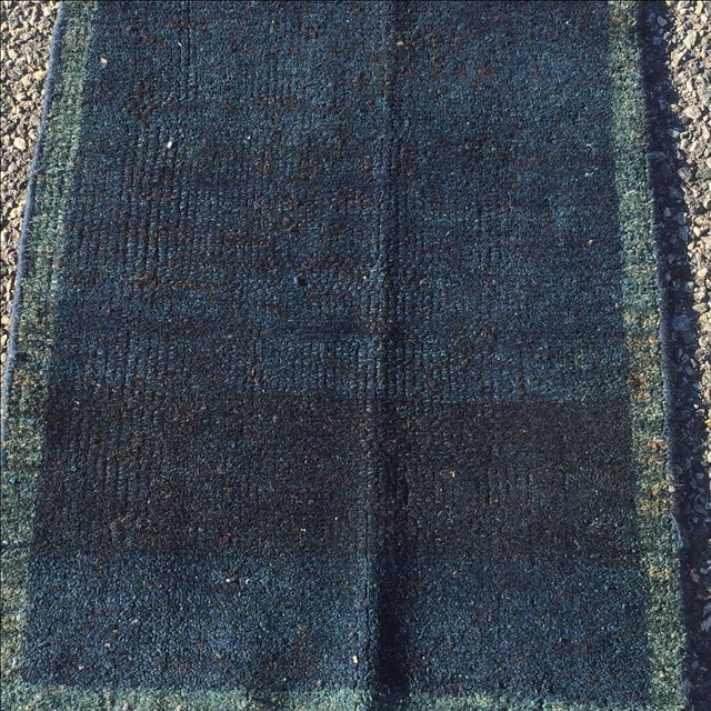 "Navy Vintage Turkish Rug - 1'11"" X 2'6"" - Image 3 of 7"