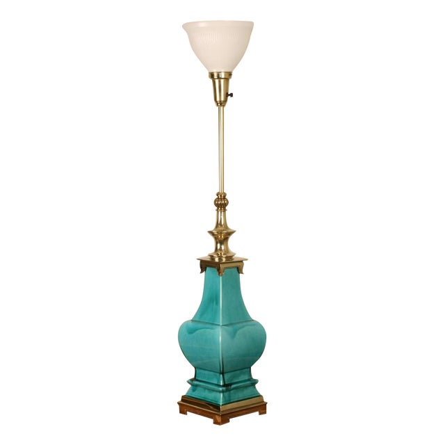 Stiffel Porcelain and Brass Lamps - A Pair - Image 1 of 8