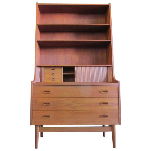 borge mogensen danish modern secretary desk chairish. Black Bedroom Furniture Sets. Home Design Ideas
