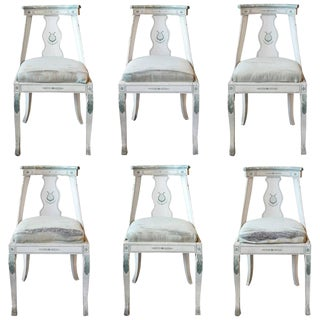 Set of Six French Empire Chairs
