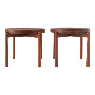 Pair of DUX Teak Tray Tables by Jens Quistgaard
