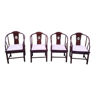 Henredon Asian Cane Dining Room Chairs - Set of 4