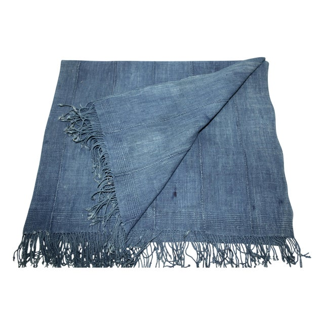 Vintage Mossi Indigo Throw/Textile - Image 1 of 5
