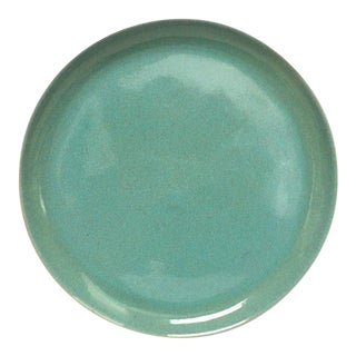Large Gidden Teal Blue Pottery Stoneware Serving Platter, Plate or Tray