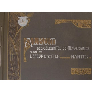 1905 Album of French Art Nouveau Biscuit LU Collectable Postcards