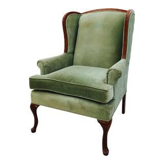 Vintage Velvet Wingback Armchair
