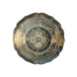 Vintage Italian Florentine Round Tray