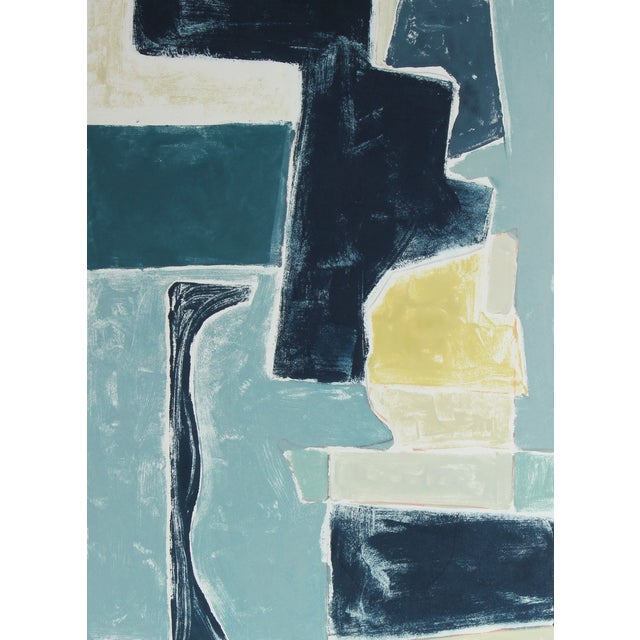 "Rob Delamater ""Blue Note VI"" 2016 Monotype - Image 1 of 2"