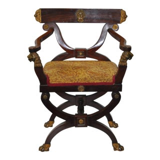 18th C. French Carved & Gilded Chair