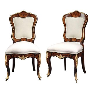 Louis XV Style Side Chairs - A Pair