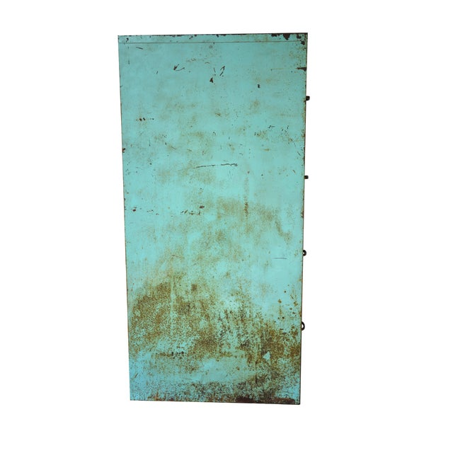 Industrial Turquoise Filing Cabinet - Image 3 of 7
