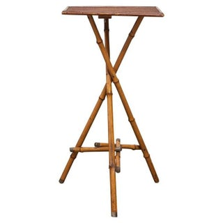 English Bamboo Tripod Drink Table