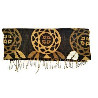 Vintage African Mud Cloth Table Runner Scarf