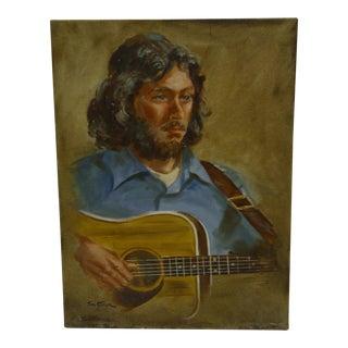 "1975 Tom Sturges ""Portrait - Steve Shugerman"" Painting"