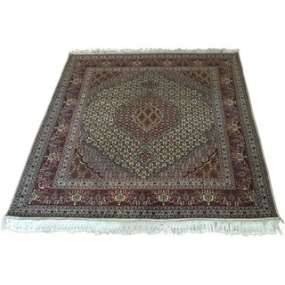 Persian Rug in Wine - 5′2″ × 6′5″
