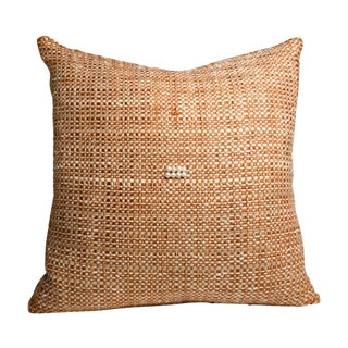 Hand-Woven Orange C'est Boucle' Pillow