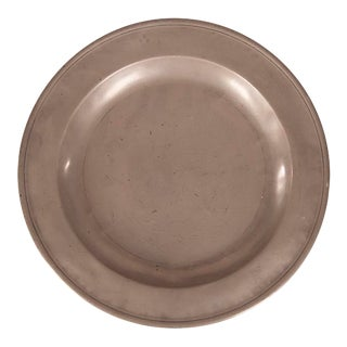 Large Round Pewter Platter from France c.1890