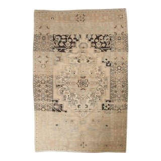 "Vintage Distressed Oushak Carpet - 5'10"" x 9'"
