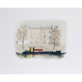 Mary Faulconer Paris Barge Lithograph