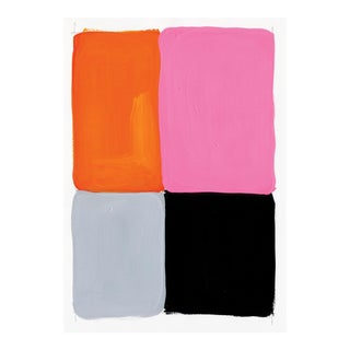 Contemporary Pink & Orange Painting