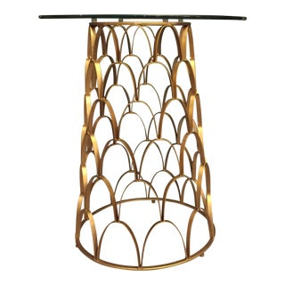 Amur Gold Leafed Metal and Glass Side Table by Bungalow 5
