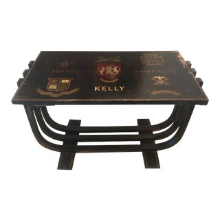 50's Deco Style Monogrammed Coffee Table