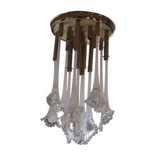 Venini Italian Art Glass Calle Chandelier